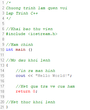 Hello World C++